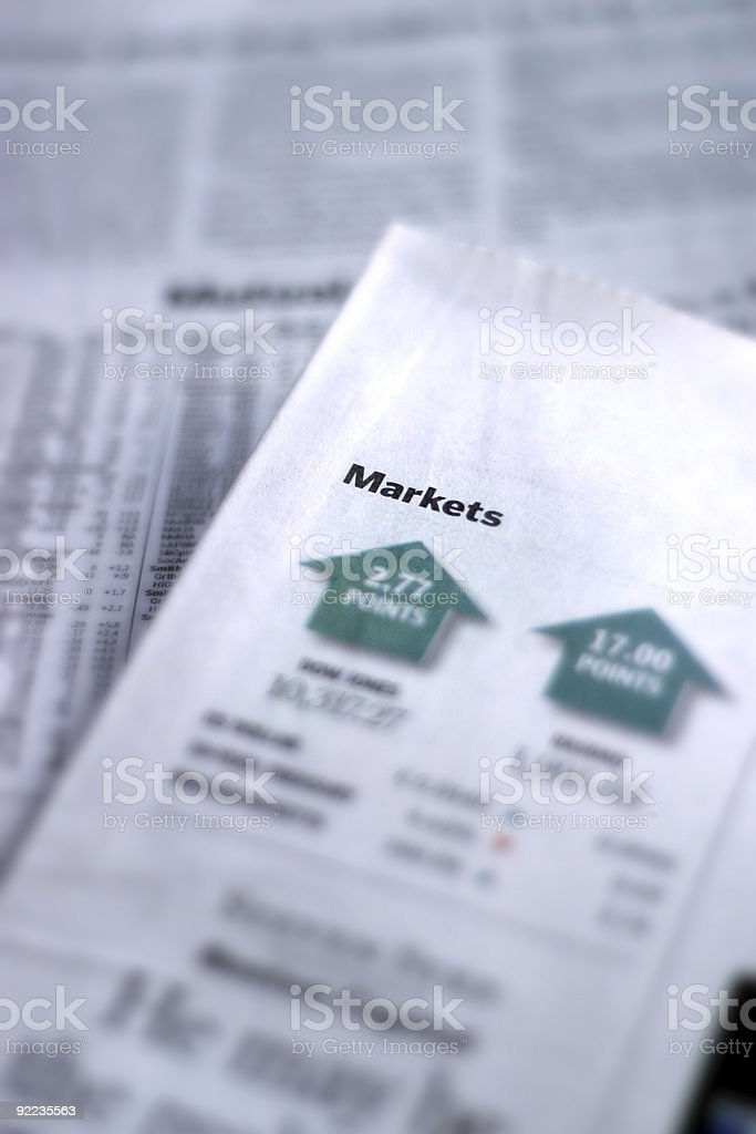 Market Report stock photo