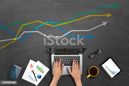 525811918 istock photo Market research business reports on laptop 540965992