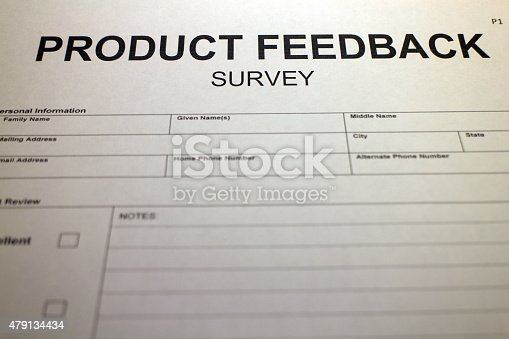 istock Market Research - Product Feedback Survey 479134434