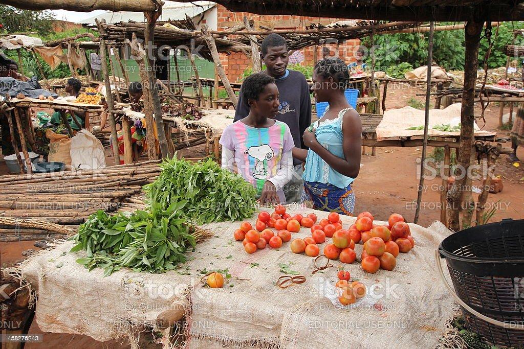 Market Scene in Africa stock photo