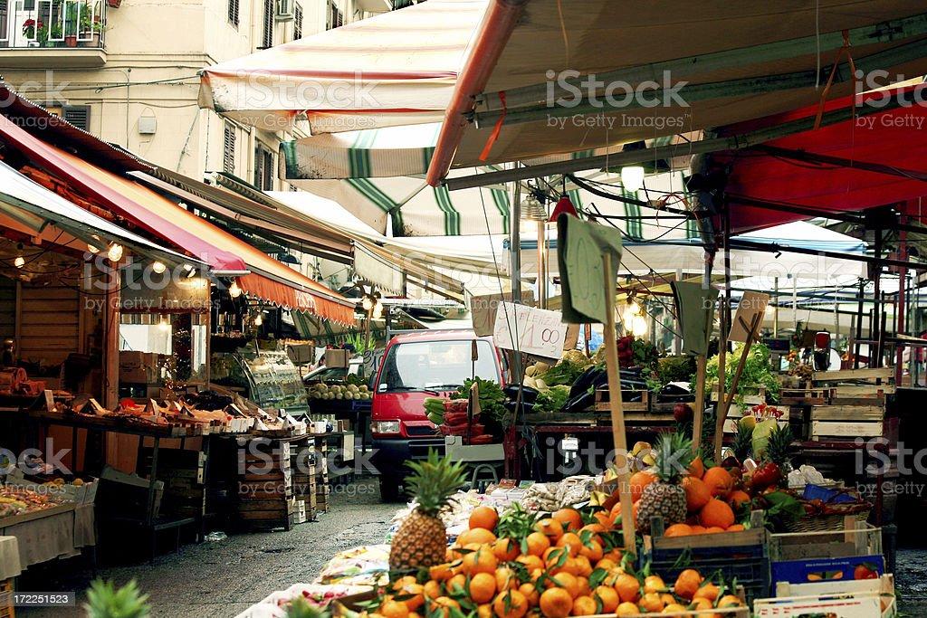 market scene royalty-free stock photo