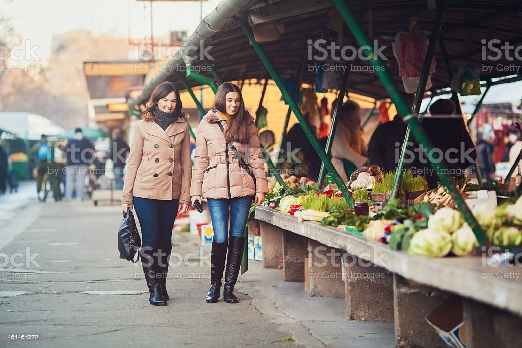 Market Scene stock photo
