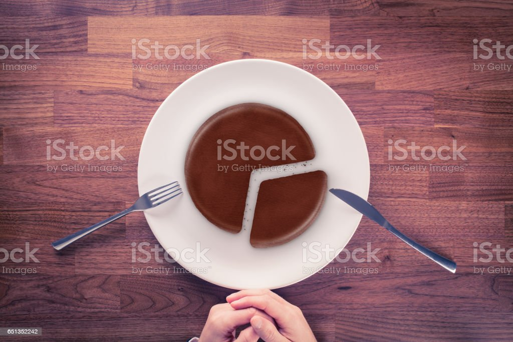 Market share marketing concept stock photo