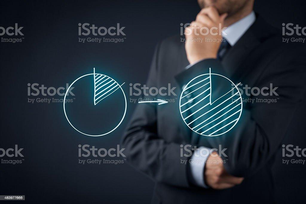 Market share stock photo