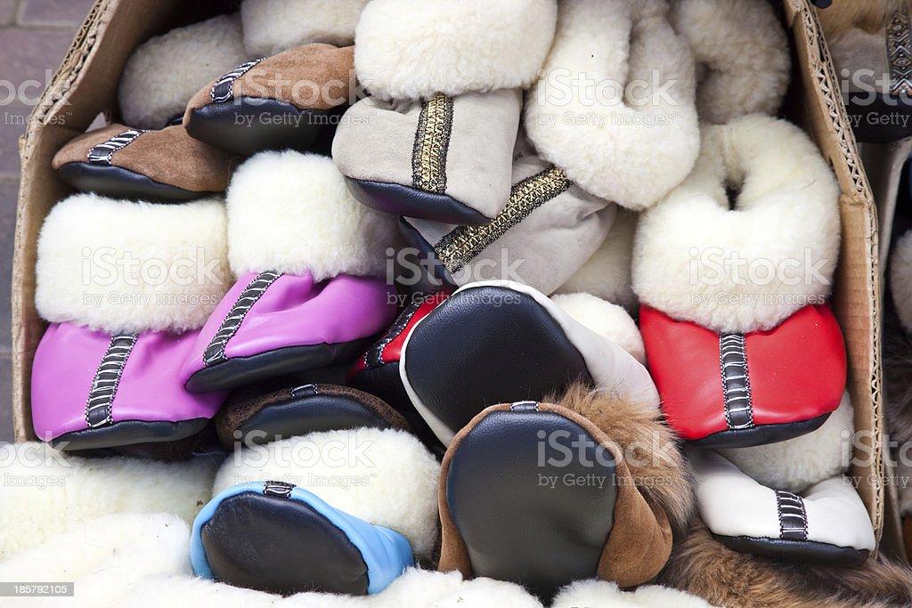 Market, slippers royalty-free stock photo