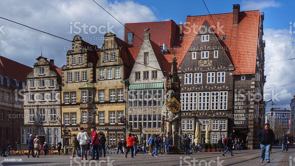 Plaza del mercado de Bremen - foto de stock