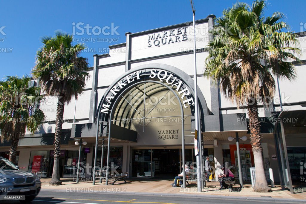 Market Square - Geelong stock photo