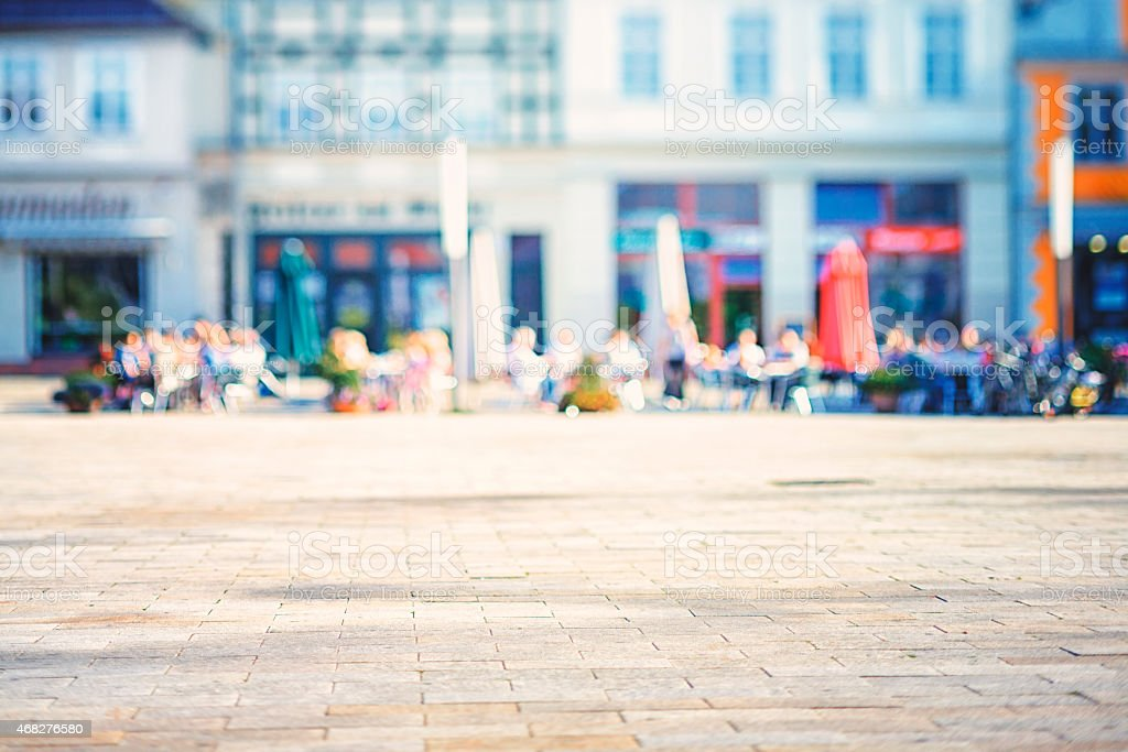 Market square in afternoon stock photo