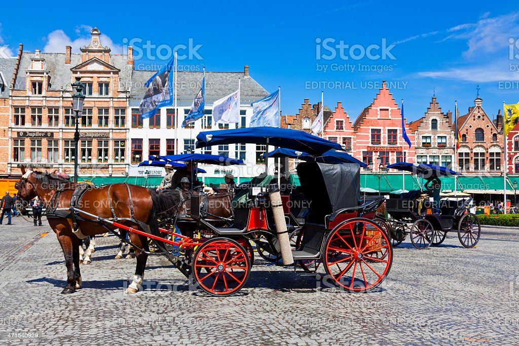 Market Square in Bruges. royalty-free stock photo