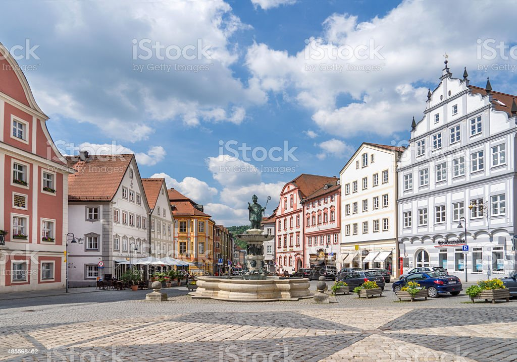 Market square in Eichstaett, Germany stock photo