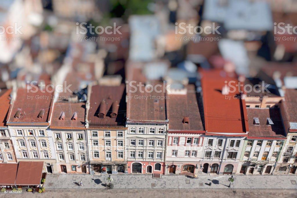 Market Square in Lviv city, Ukraine stock photo