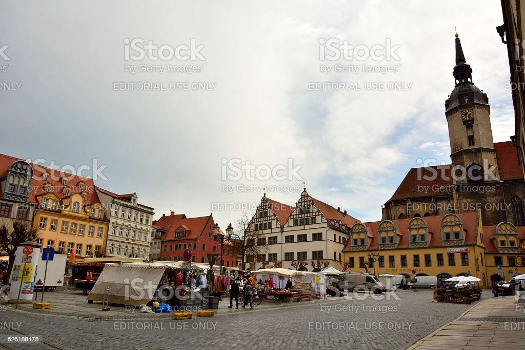 Markt square in Naumburg stock photo