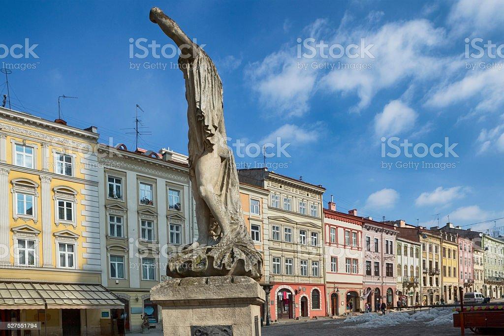 Market Square, Lviv stock photo