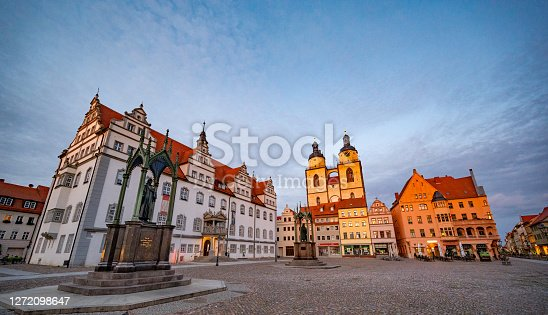 Market Square of Lutherstadt Wittenberg is the fourth largest town in Saxony-Anhalt, Germany. Wittenberg is situated on the River Elbe. Wittenberg is famous for its close connection with Martin Luther and the Protestant Reformation.