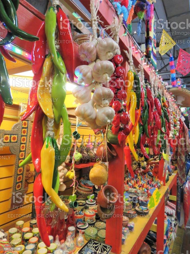 Plaza del mercado (El Mercado) San Antonio, Texas - foto de stock