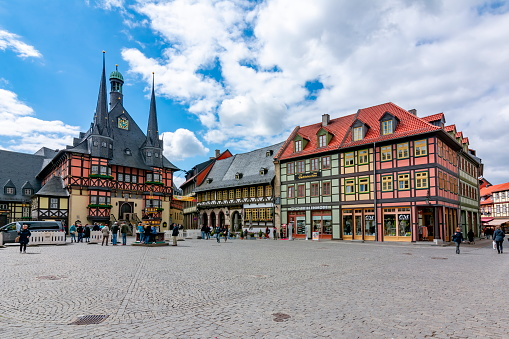 Market square with Town Hall, Wernigerode, Germany