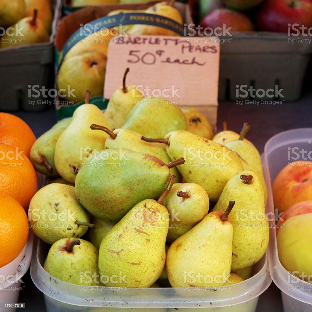 Market Stall Pears royalty-free stock photo