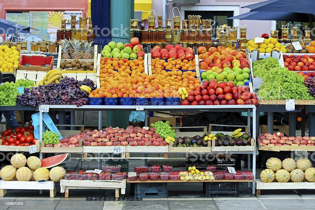 Market stall royalty-free stock photo