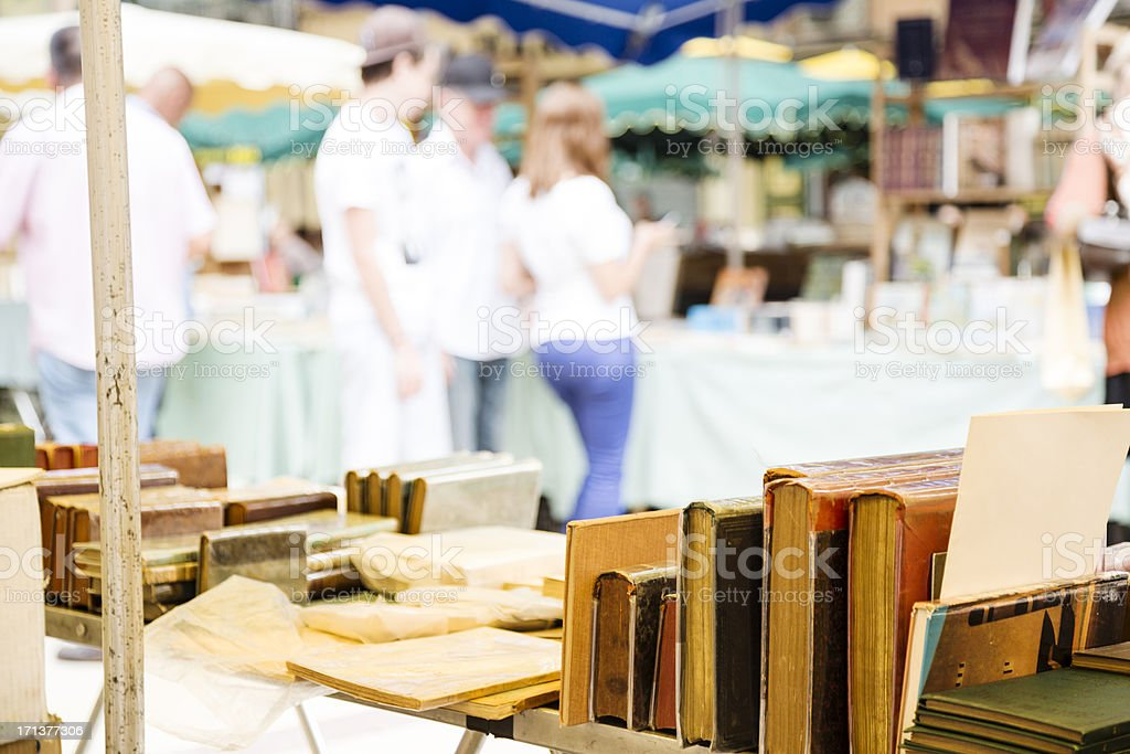 Market stall with books royalty-free stock photo