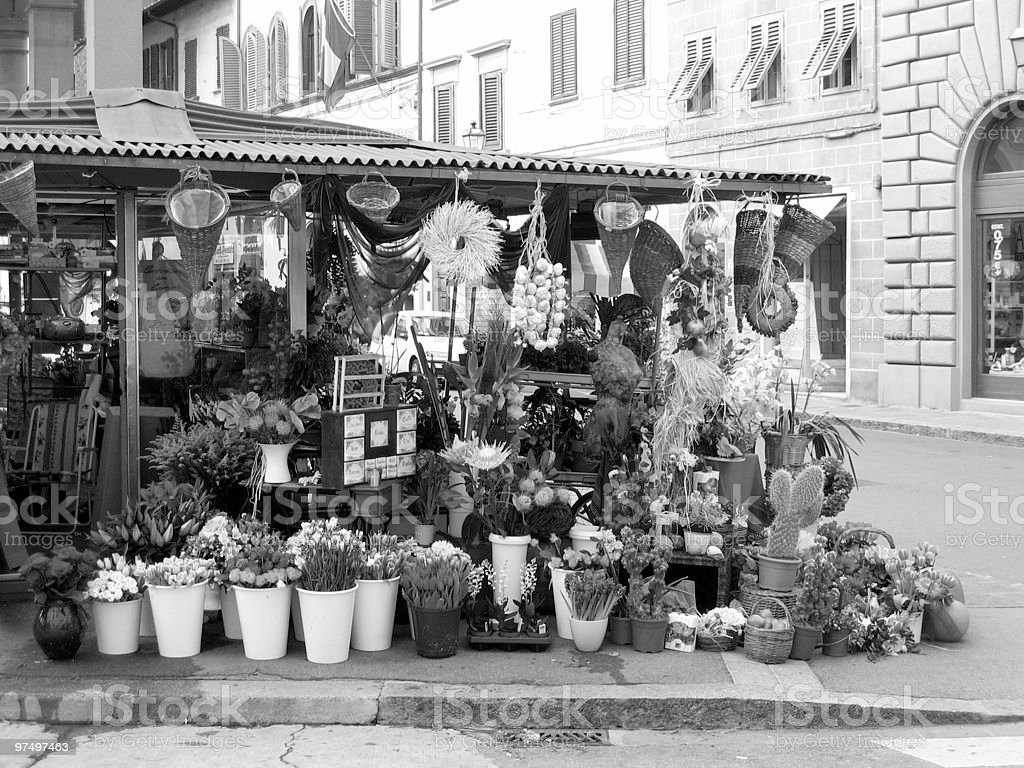 market stand with flowers royalty-free stock photo