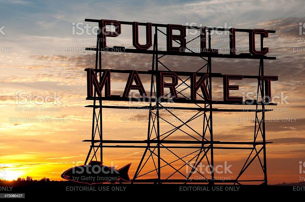 Market Sunset royalty-free stock photo