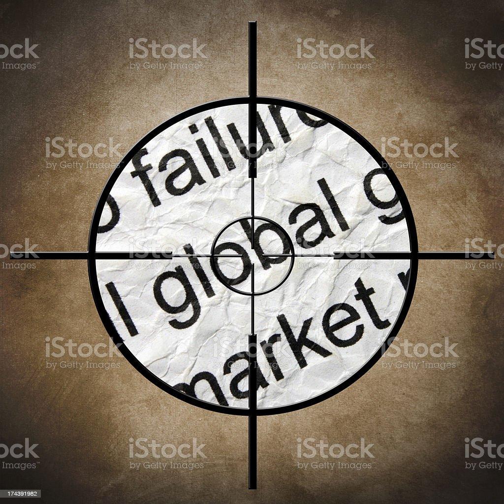 Market target royalty-free stock photo