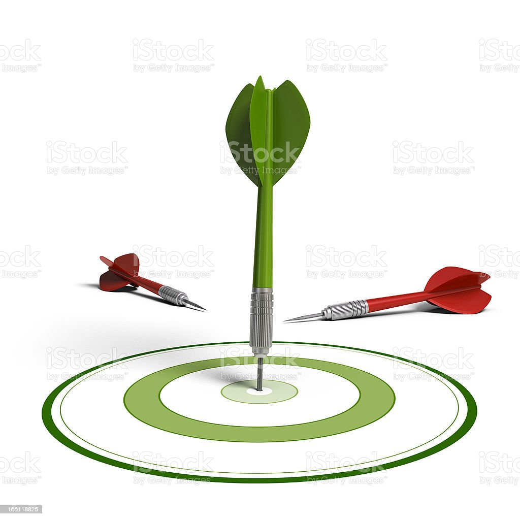 Market targeting concept, improving results royalty-free stock photo
