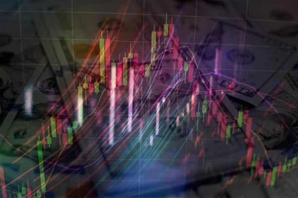 Kurumsal dahil piyasa ticareti, gelir Fix, Bond değerleme, hükümet Bond, Secularization ve belediye. Risk çeşitlendirme konsepti ile servet yönetimi. stok fotoğrafı
