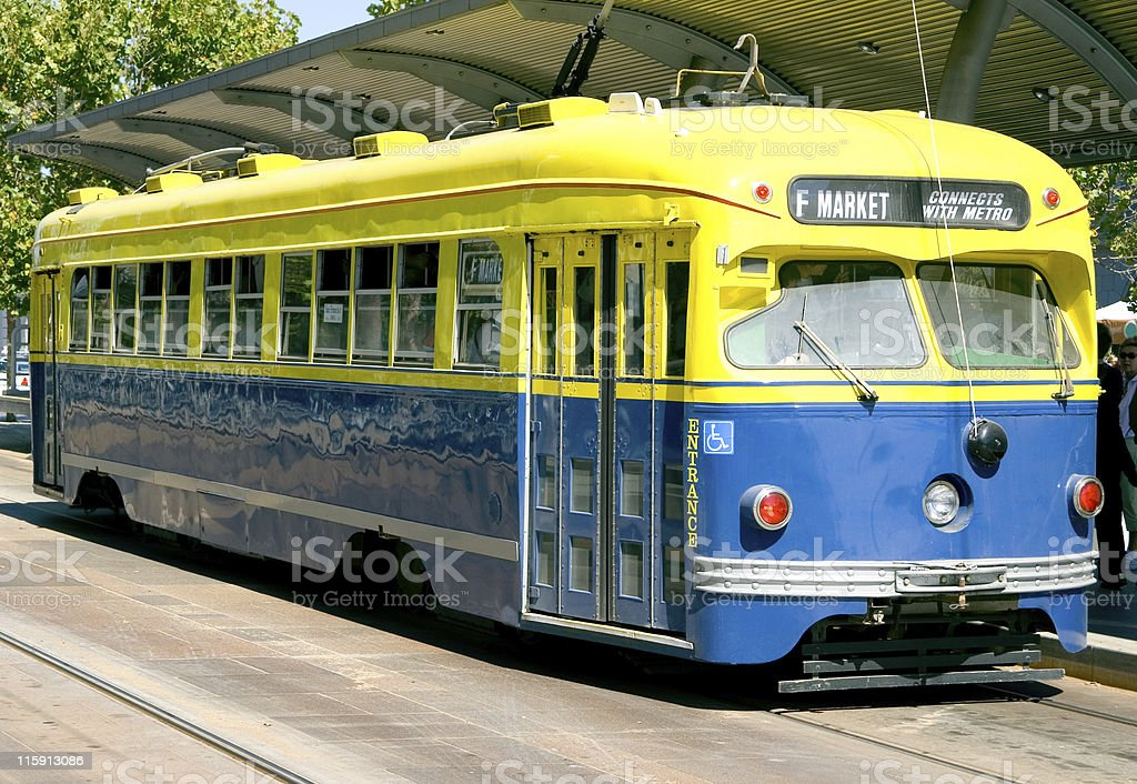 F Market Trolley in San Francisco royalty-free stock photo