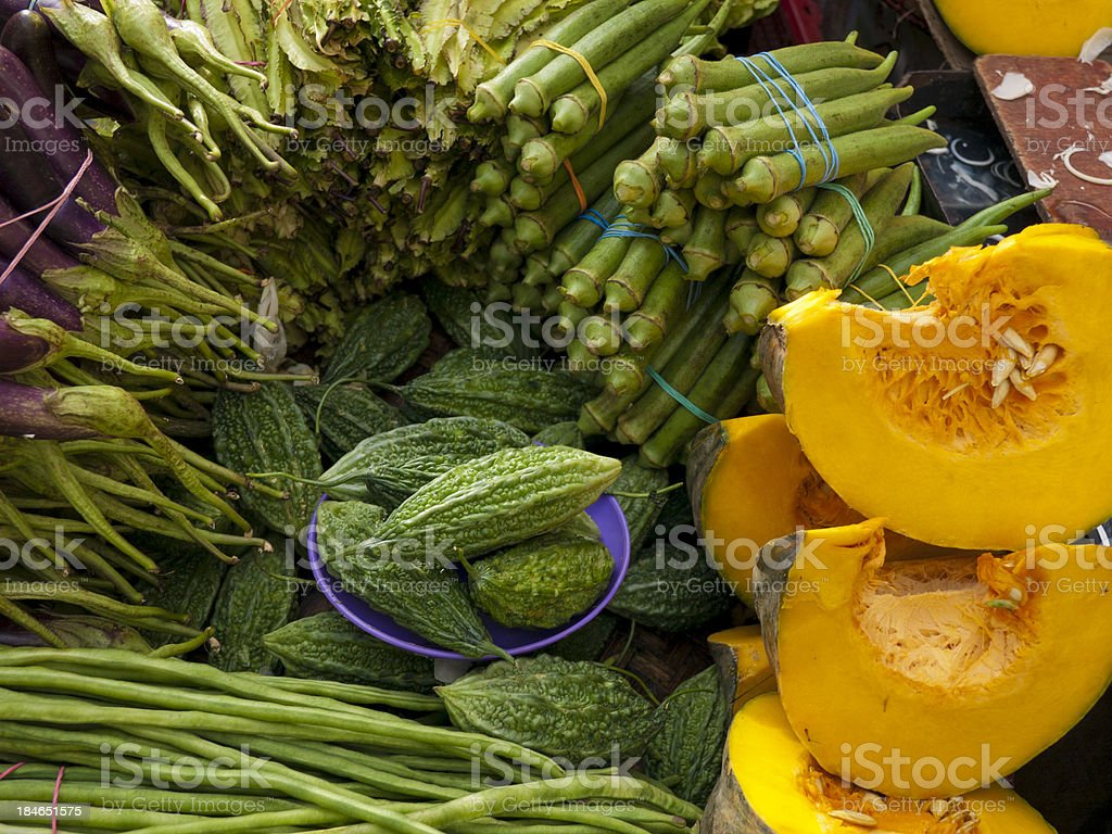 Market Vegetables Manila royalty-free stock photo