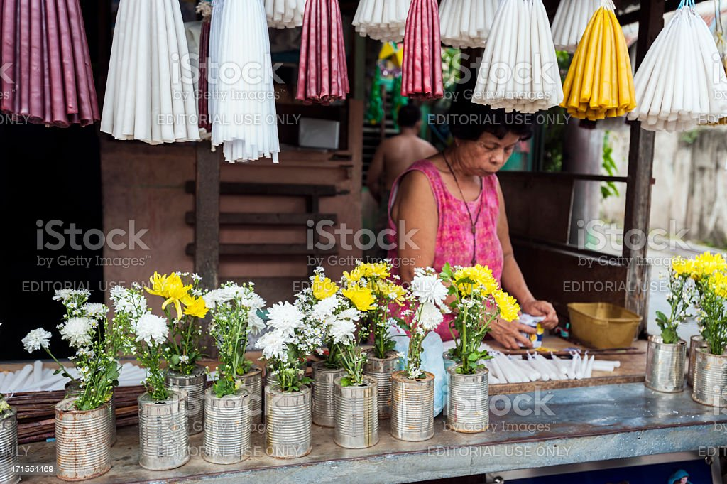 Market Vendor in Philippines royalty-free stock photo