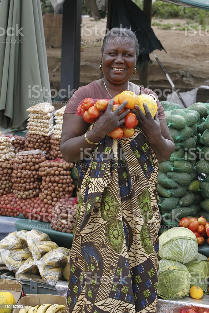 Market woman South Africa stock photo