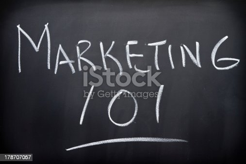 Marketing 101 introduction course on blackboard
