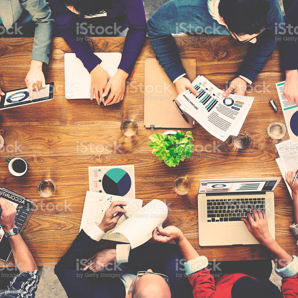 Marketing Analysis Accounting Team Meeting Concept stock photo