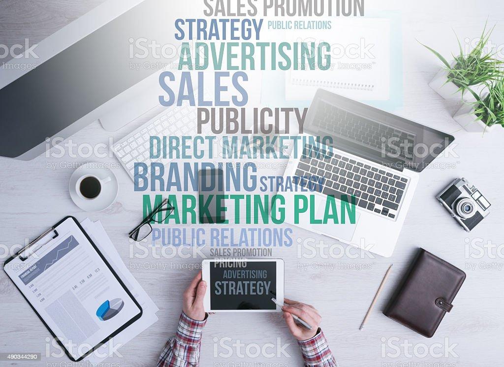 Comercialización y conceptos de negocio - foto de stock