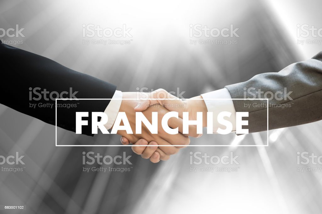 FRANCHISE  Marketing Branding Retail and Business Work Mission Concept stock photo