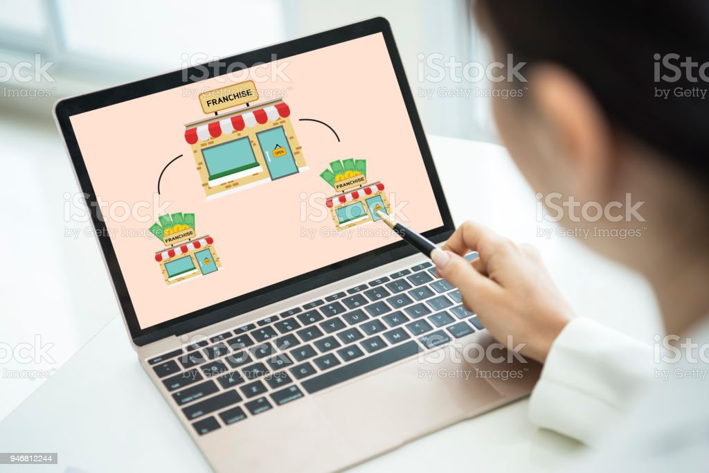 Branding-Marketing im Einzelhandel Franchise Lizenz. Strategiekonzept. – Foto