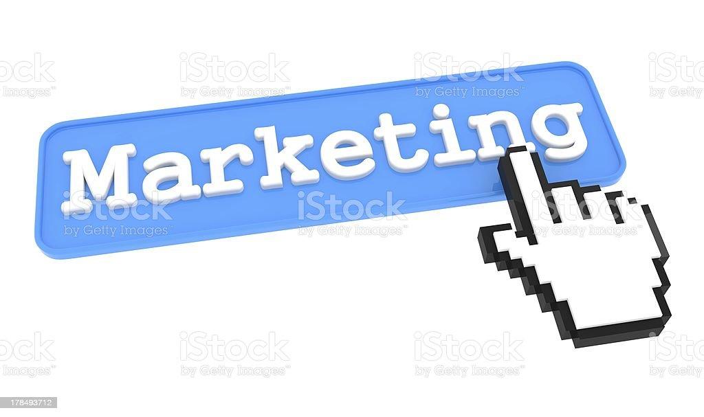 Marketing Button. royalty-free stock photo