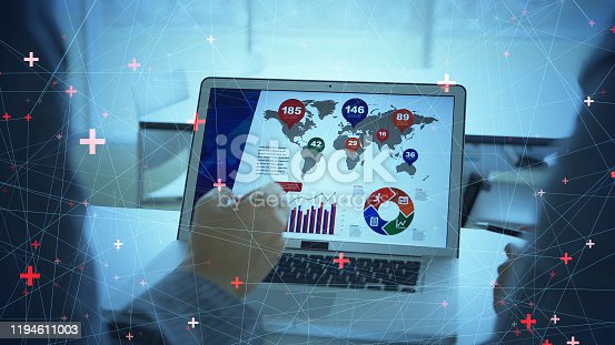 801895196 istock photo Marketing concept. Business and network. 1194611003