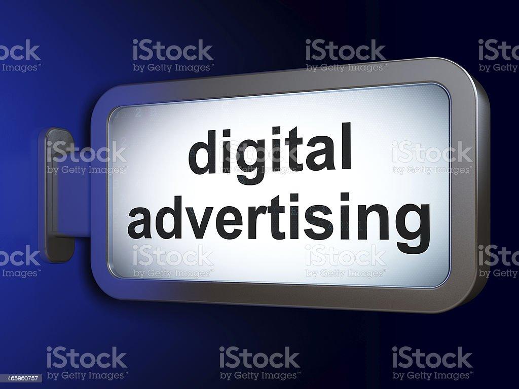 Marketing concept: Digital Advertising on billboard background royalty-free stock photo