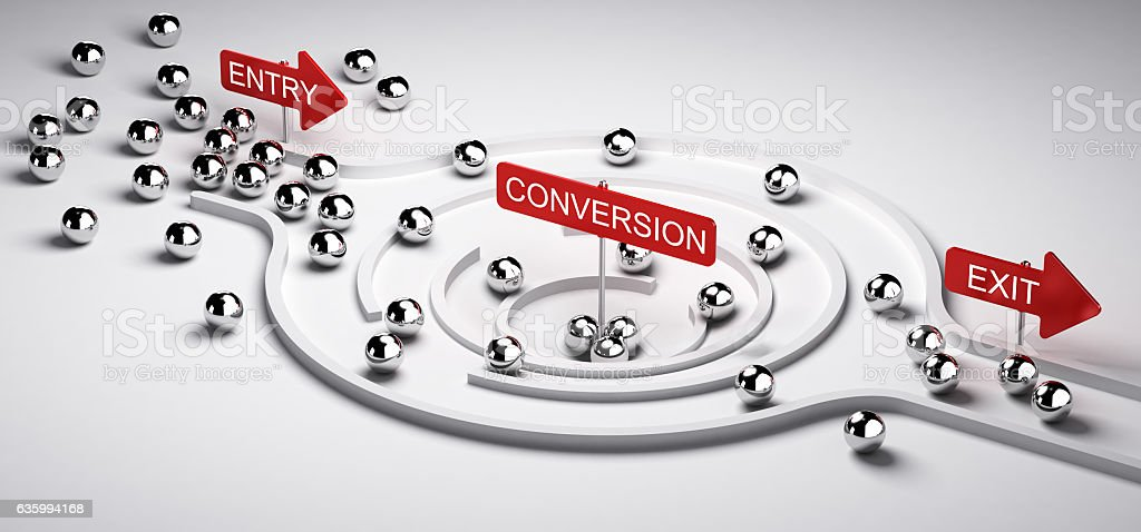 Marketing Conversion Funnel stock photo