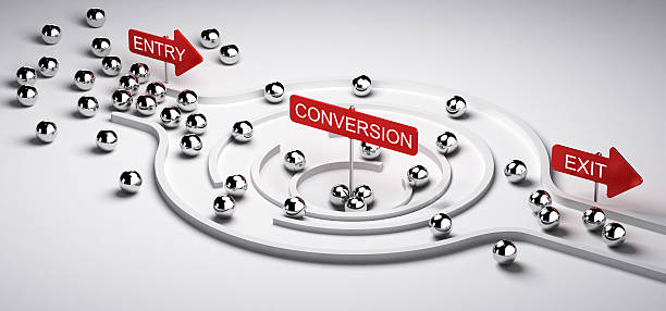 marketing conversion funnel - sales funnel stock photos and pictures