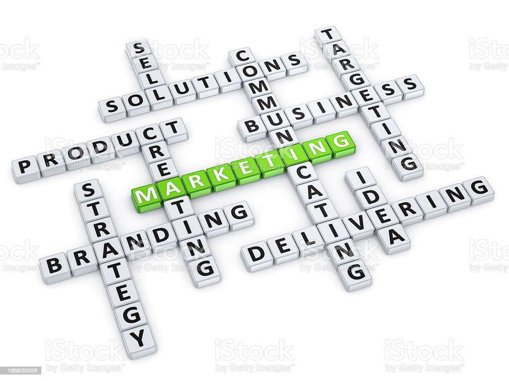 Marketing crossword concept royalty-free stock photo