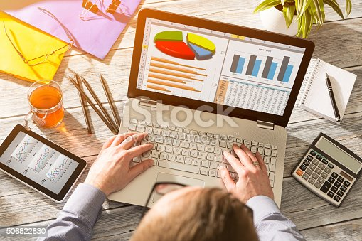 istock Marketing Graph Statistics Digital  Analysis Finance Concept 506822830