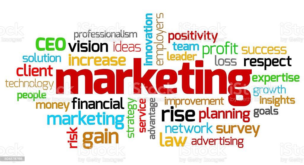 Marketing keywords stock photo
