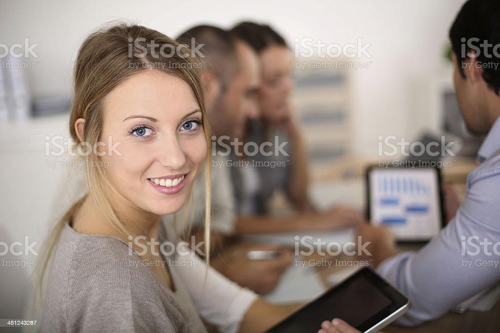 Marketing meeting stock photo