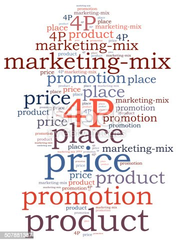 istock Marketing mix concept. Word cloud illustration. 507881387
