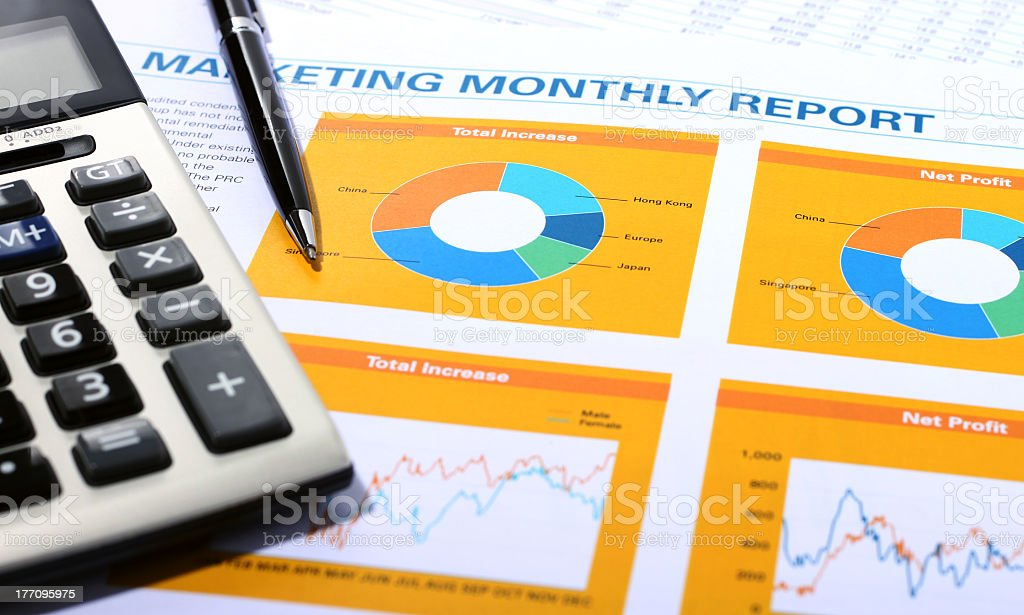 Marketing Monthly Report royalty-free stock photo