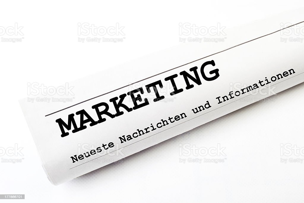 Marketing newspaper stock photo