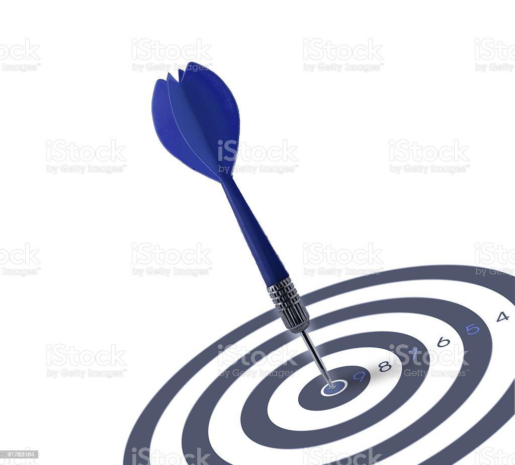 marketing objective image - Target symbol of success royalty-free stock photo